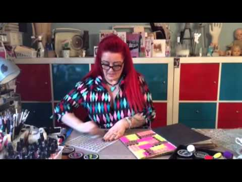 Dylusions Paints Block Technique with Dyan Reaveley