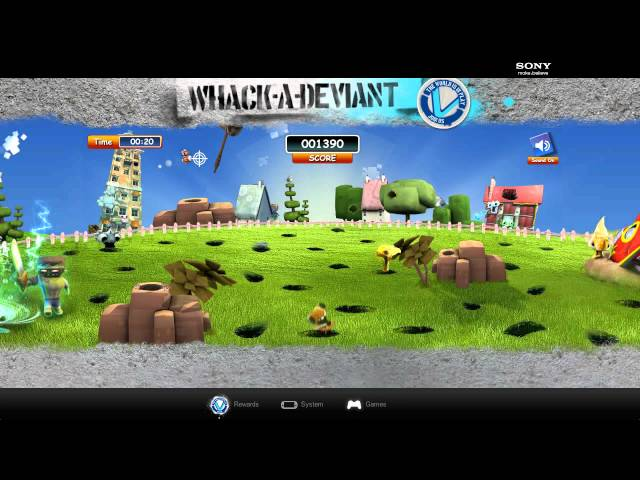 Playstation: PS Vita - Whack-a-Deviant Game