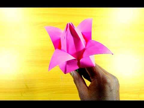 How to Make Paper Lotus Flowers Easy Step by Step,Origami Lotus Flower.