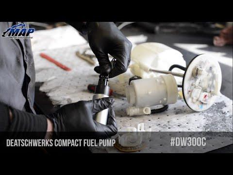 DeatschWerks DW300c 340LPH Compact Fuel Pump Install & Review (Evo ...