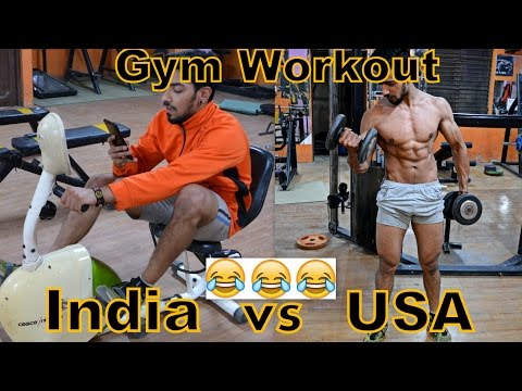 Gym Workout in USA vs India   Types of People at Gym