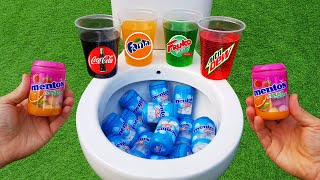 Experiment !! Mentos and Coca Cola, Fanta, Mtn Dew, Fruko In toilet