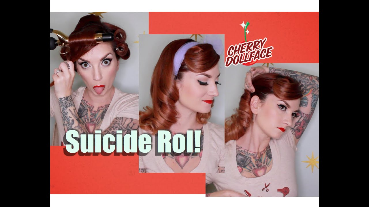 Vintage Hair Tutorial Easy Suicide Roll by CHERRY DOLLFACE