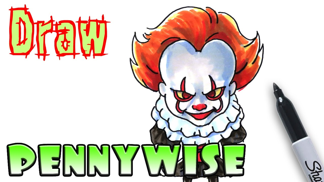 How to Draw Pennywise Clown - IT - Coloring Pages - YouTube