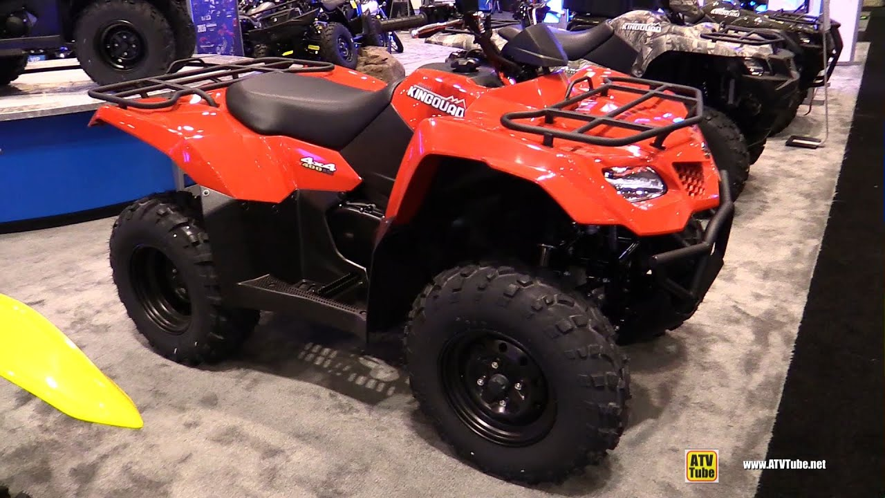2016 suzuki king quad 400 asi utility atv walkaround 2015 aimexpo orlando youtube. Black Bedroom Furniture Sets. Home Design Ideas