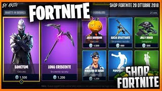 "SHOP FORTNITE 20/10/2018 - NUOVA SKIN ""JACK GOURDON"" *skin Halloween* + SKIN ""SANCTUM"" & PICCONE"
