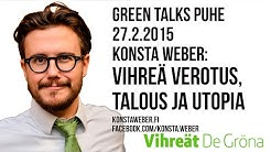 Vihreä verotus, talous ja utopia - Konsta Weber