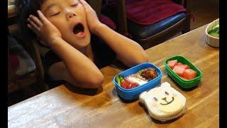 嫁ちゃんの弁当修行 【 白くまサンドイッチ弁当 】