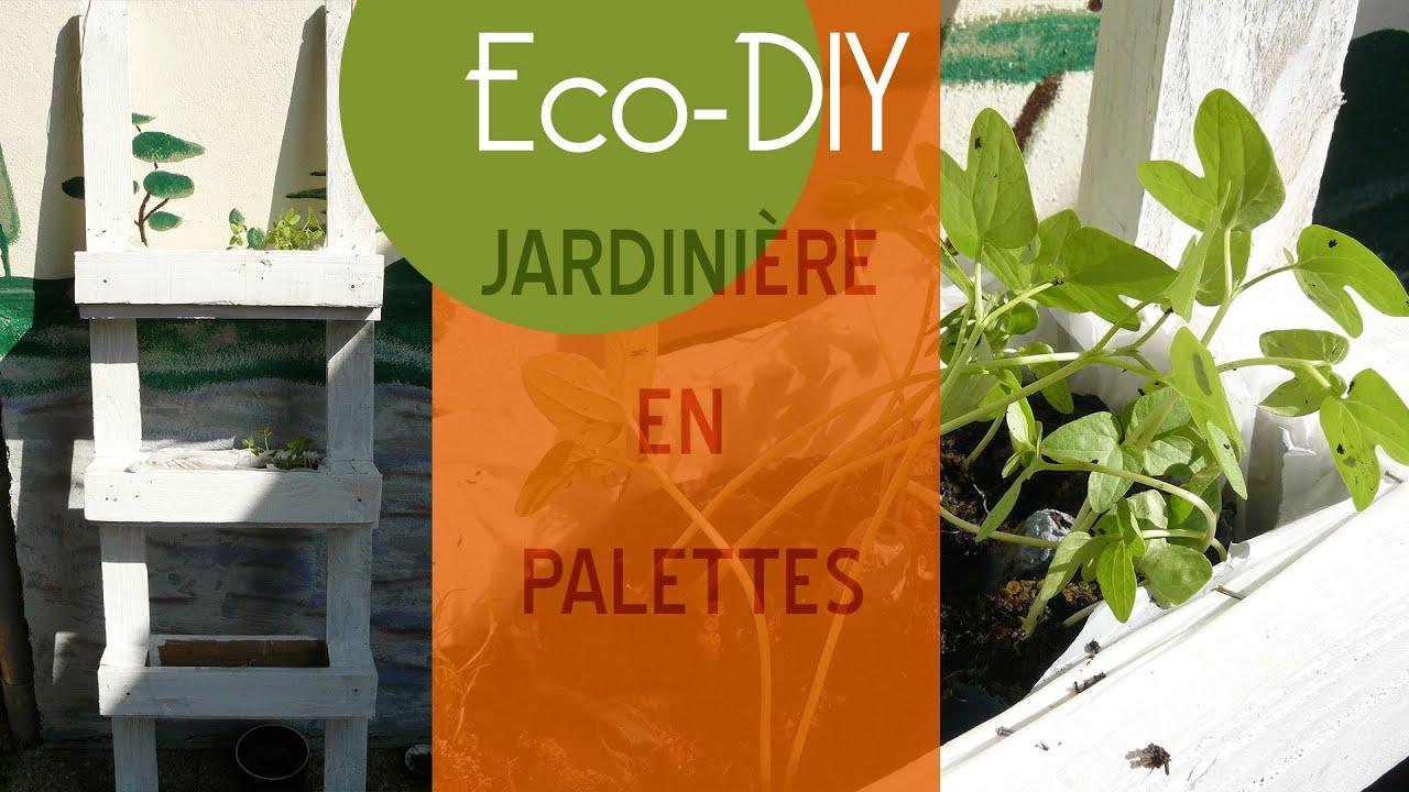 Diy jardini re en palettes youtube - Jardiniere en palette ...