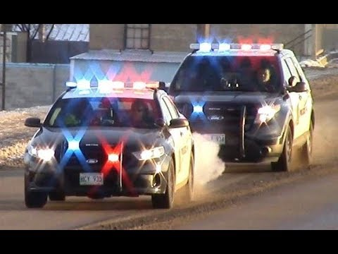 4 Police Cars Responding FAST To Urgent Call