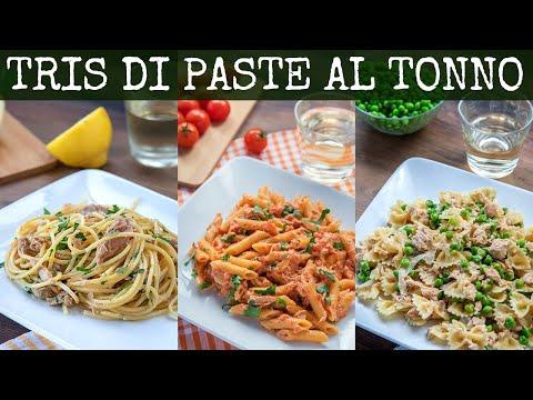 PASTA AL TONNO 3 Idee: Spaghetti Tonno e Limone, Penne al Baffo con Tonno, Farfalle Piselli e Tonno