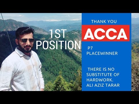 1st Position In Pakistan | ACCA | P7 Paper