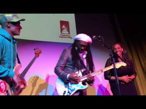 "Nile, Flea & Kathy Sledge Grammy Week Jam: ""We Are Family"""