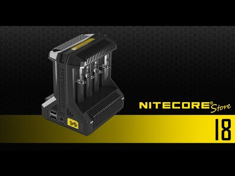 NITECORE I8 Intellicharger 8-Slot Universal Battery Charger For 18650, 16340, 26650, 14500 And More