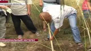 Житель Алматы откопал в своем дворе останки древнего человека