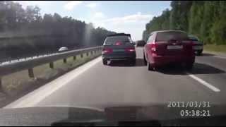 Жесткая подстава на дороге (ДТП)