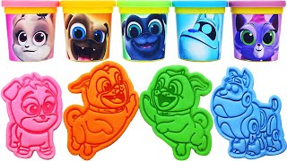 Gambar cover Play-Doh Puppy Dog Pals Molds & keia, Hissy, Rolly, Bingo, ARF