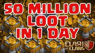 Clash of Clans | 50 MILLION IN A DAY! Possible? Fast Farming Mega Loot!