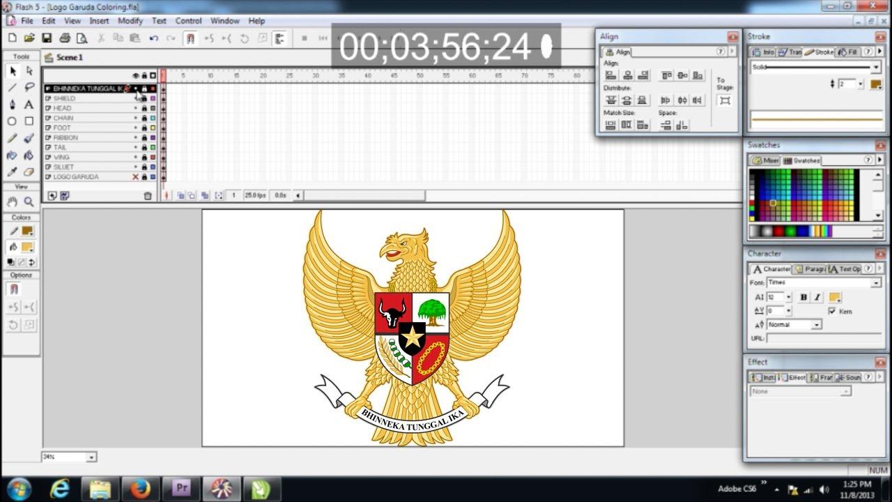 Membuat Logo Garuda Youtube