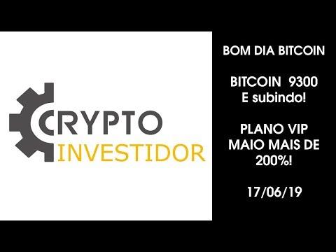 BOM DIA BITCOIN 9300 - BTC SUBINDO! ANALISE DE MERCADO - 17/06/2019