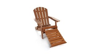 Allweather Folding Adirondack Chair With Foot Rest