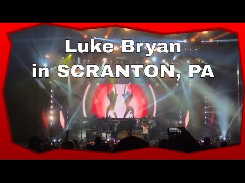 Luke Bryan Country Girl live concert Scranton, PA