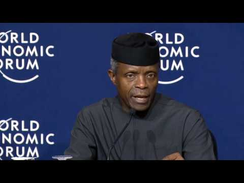 Davos 2017 - Press Conference with the Vice-President of Nigeria