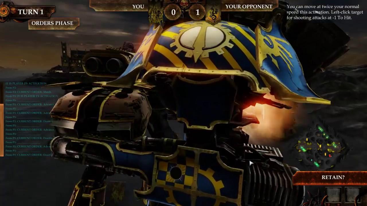 Adeptus Titanicus: Dominus, первая игра