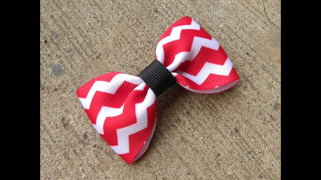 470aeb513890 HOW TO  Make a Basic Hair Bow Tutorial by Just Add A Bow - YouTube