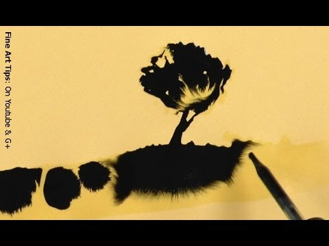 "How to Paint With Ink - Amazing Drawings ""Magically"" Appearing"