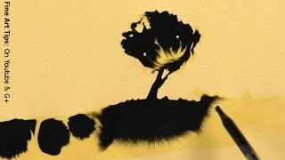 """How to Paint With Ink and Water - Amazing Drawings """"Magically"""" Appearing"""