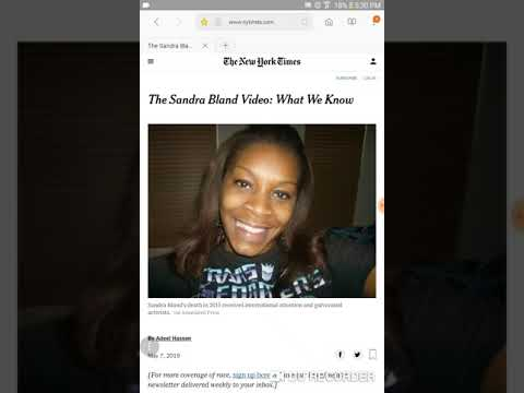 Hocus News .The Curious Case Of Sandra Bland & Black Lives Matter.