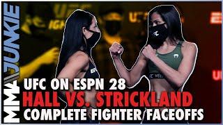 UFC on ESPN 28 full fight card faceoffs