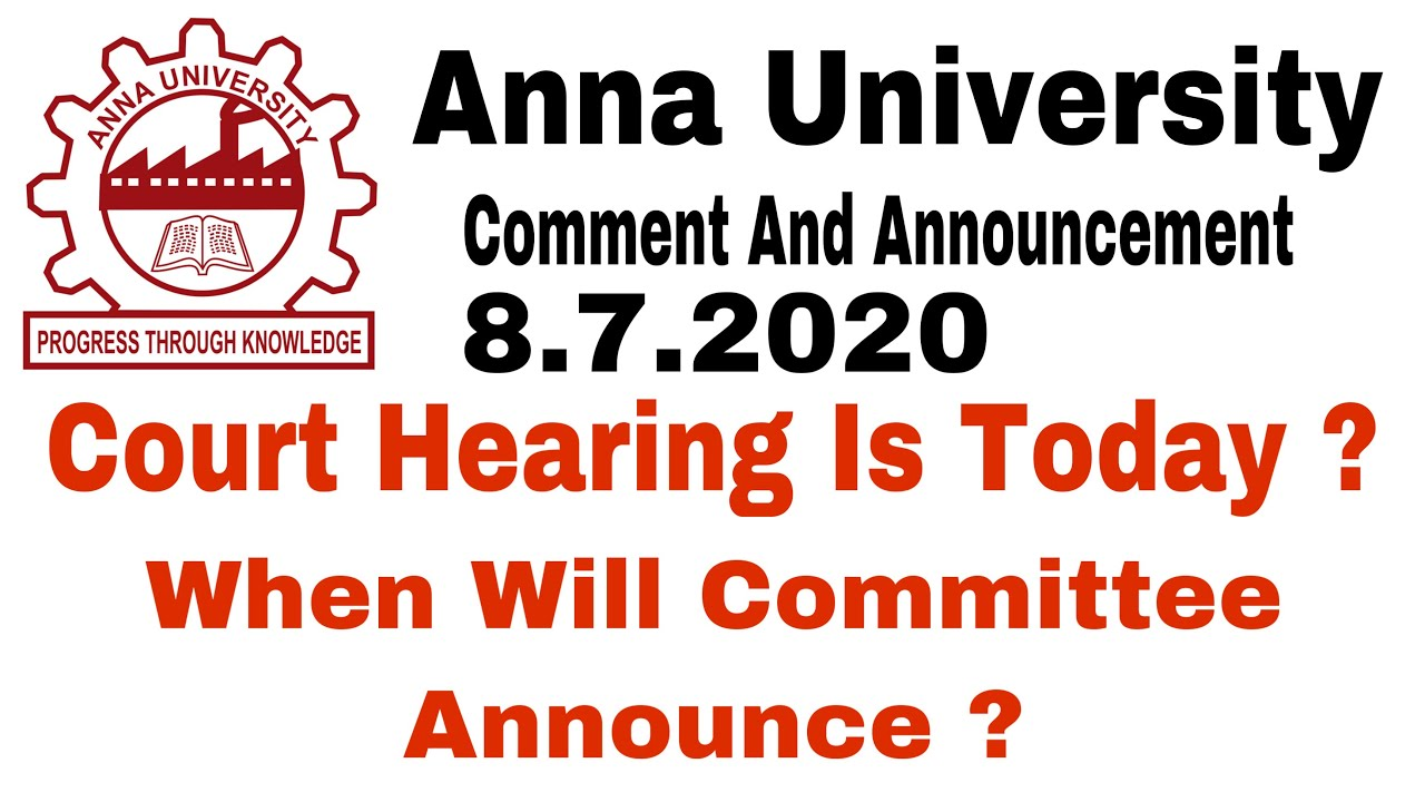 Anna University | Court Hearing Today ? | Announcement And Comments | Tamil