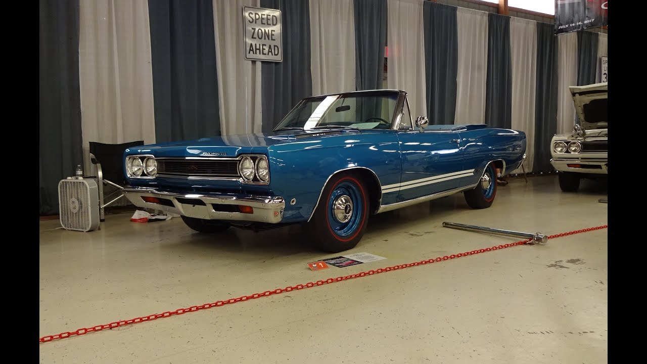 1968 Plymouth GTX Convertible In B5 Blue & 426 Hemi Engine