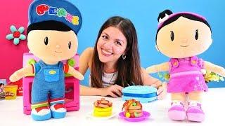 Pepee ve Şila için yemek yapalım. Play-Doh mutfak seti