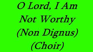 O Lord, I Am Not Worthy (Choir)