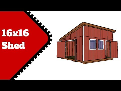 Lean to Shed Plans 16x16