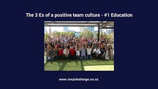The 3 Es of a positive team culture - Corporate Challenge Events