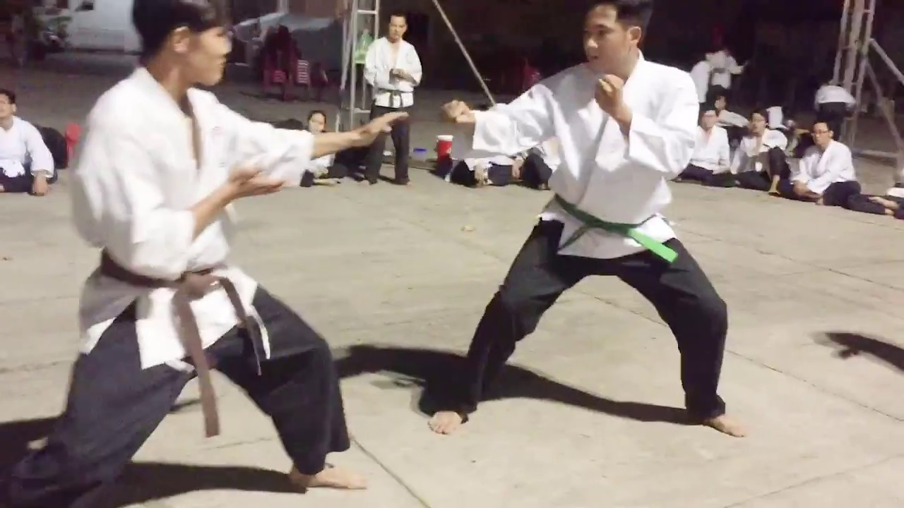 Đấu đai Nâu vs Xanh lá | Karate Shorin Ryu Nhà Văn Hóa Thanh Niên K100