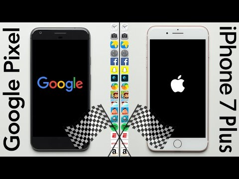 Google Pixel XL vs. iPhone 7 Plus Speed Test
