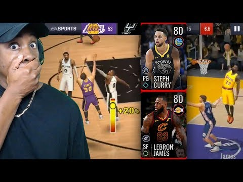 NBA LIVE MOBILE SEASON 3 GAMEPLAY! LeBron & Curry Are Unstoppable In Campaigns! Ep. 3
