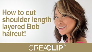 How to cut shoulder length layered Bob haircut! Celebrity haircuts