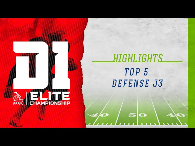 Top 5 Defense de la J3 #EliteFootUS '20