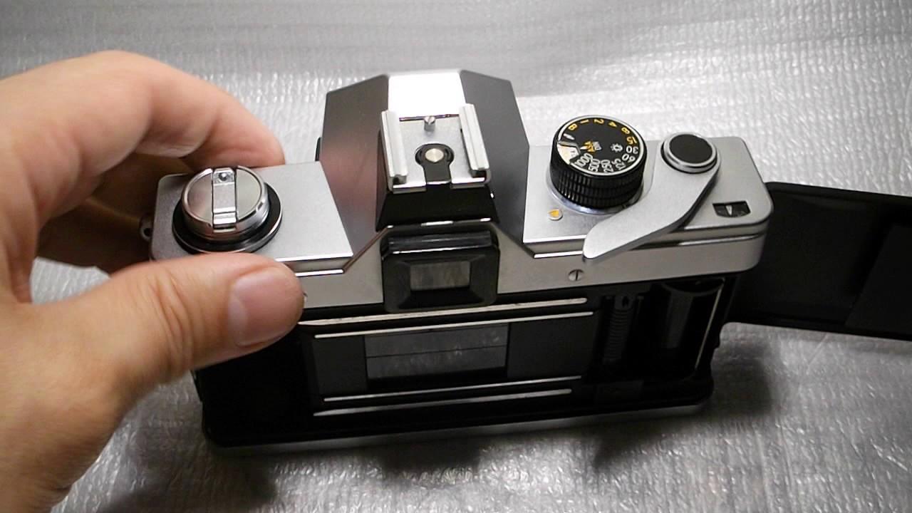 Vintage praktica l camera case with lens