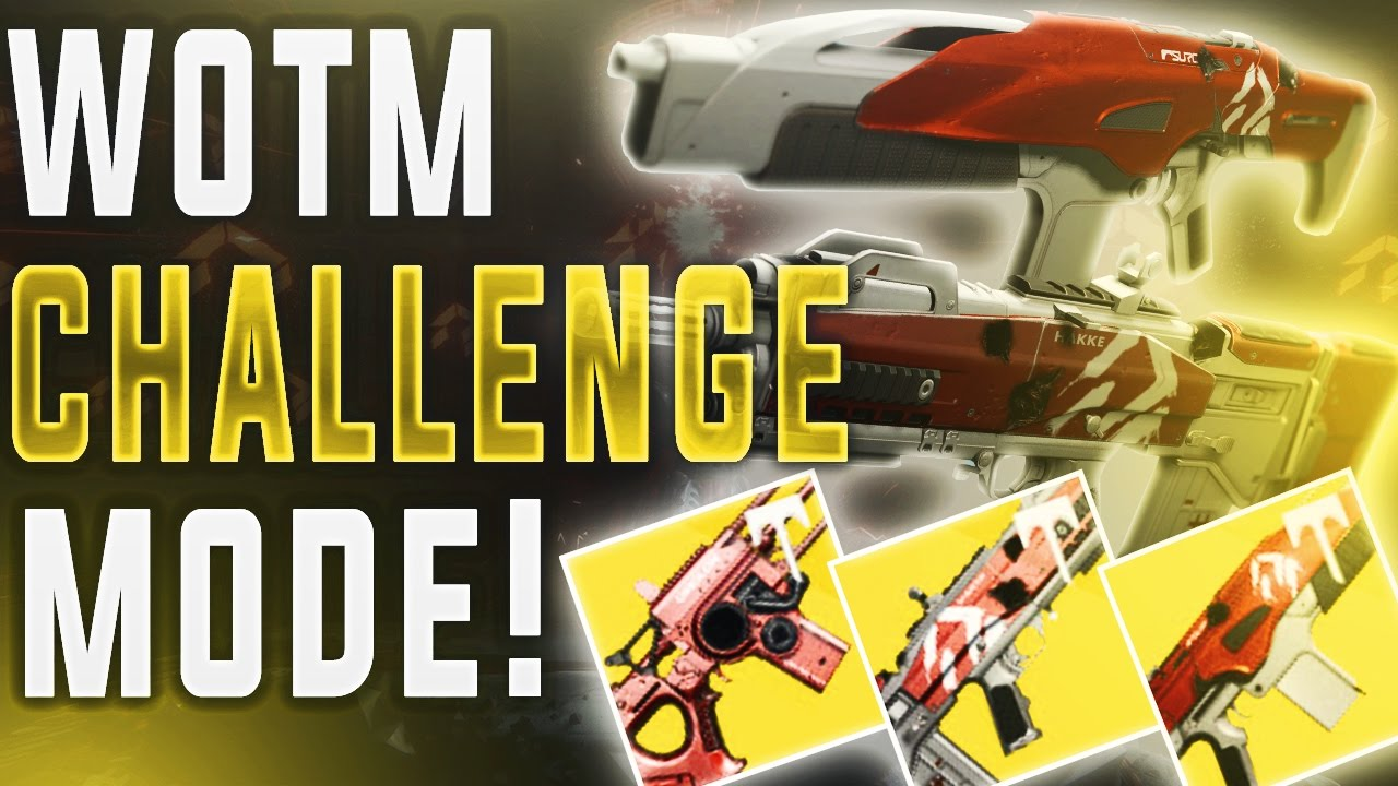 wrath of the machine challenge