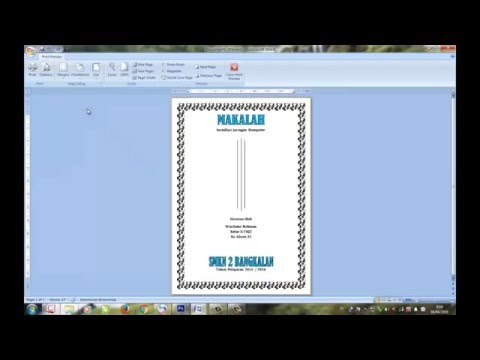 Cara Membuat Cover Makalah Di Microsoft Office Word 2007 Youtube