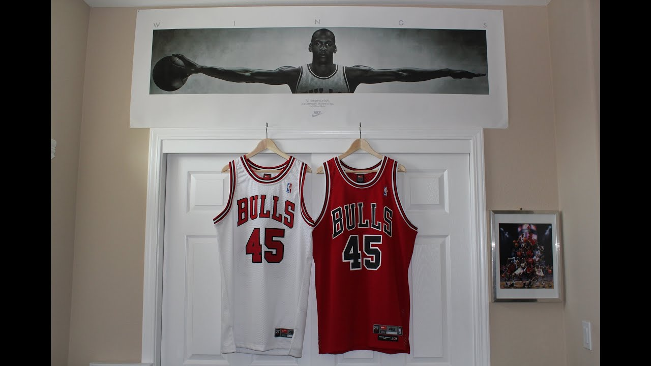 new styles 752af 587c2 The 8403 Nike Bulls Jordan #45 Road Jersey