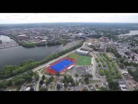 Merrimack River, Lowell MA, Drone Footage (Full Flight)