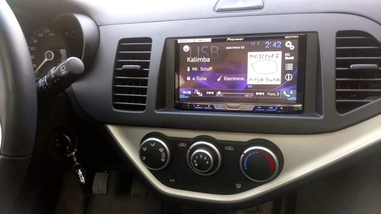 Kia Picanto 2015 Instalaci 243 N De Radio Pioneer Youtube